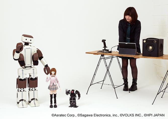 図2:「V-Sido × Songle」での動作実績のあるロボットの例(左から「ASRA C1」、「SE-01」、「GR-001」)